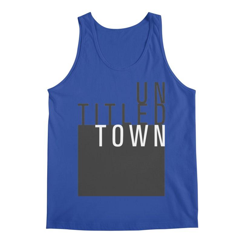 Un/Titled/Town Black + White letters Men's Regular Tank by UntitledTown Store