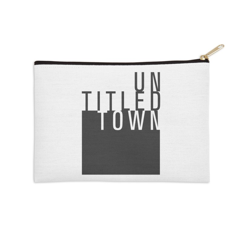 Un/Titled/Town Black + White letters Accessories Zip Pouch by UntitledTown Store