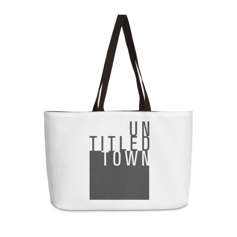 Un/Titled/Town Black + White letters Accessories Weekender Bag Bag by UntitledTown Store