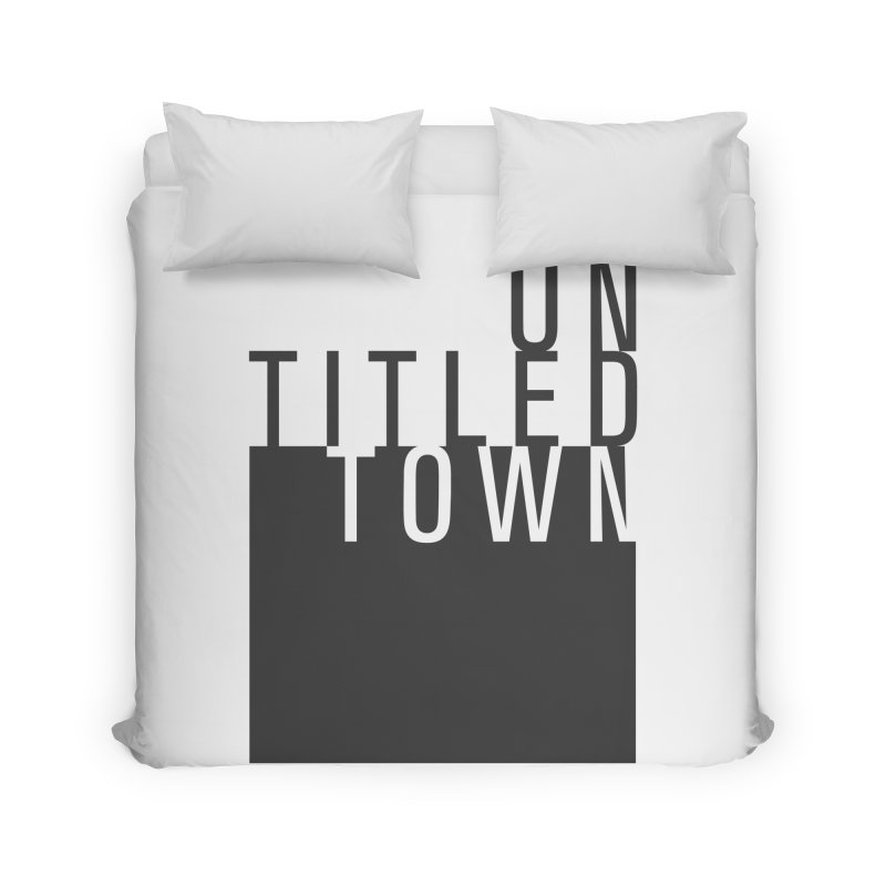Un/Titled/Town Black + White letters Home Duvet by UntitledTown Store