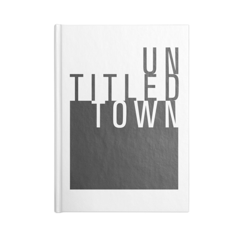 Un/Titled/Town Black + White letters Accessories Blank Journal Notebook by UntitledTown Store