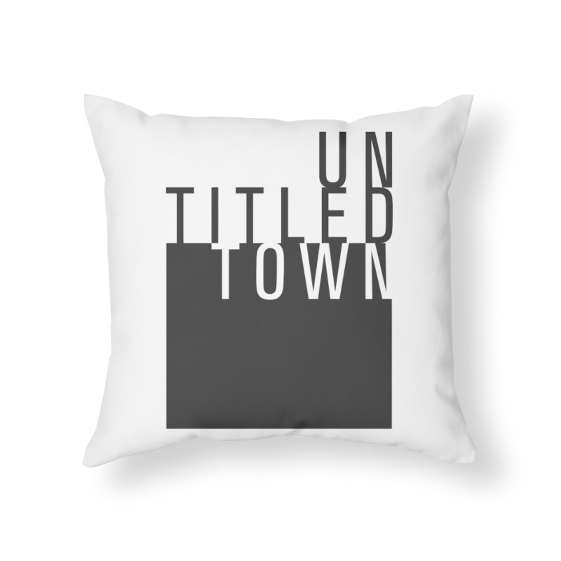 Un/Titled/Town Black + White letters Home Throw Pillow by UntitledTown Store