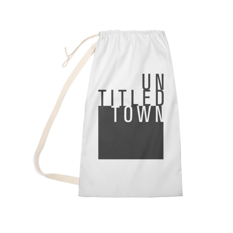 Un/Titled/Town Black + White letters Accessories Laundry Bag Bag by UntitledTown Store