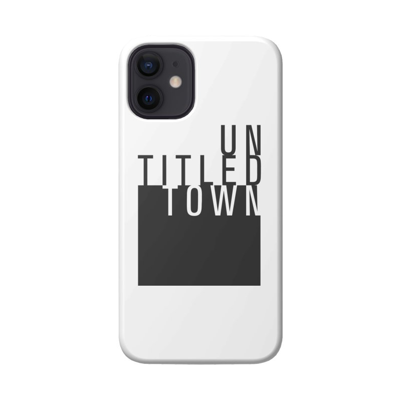 Un/Titled/Town Black + White letters Accessories Phone Case by UntitledTown Store