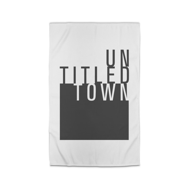Un/Titled/Town Black + White letters Home Rug by UntitledTown Store