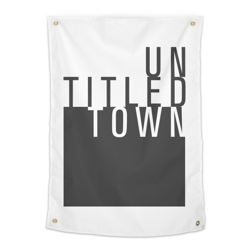 Un/Titled/Town Black + White letters Home Tapestry by UntitledTown Store