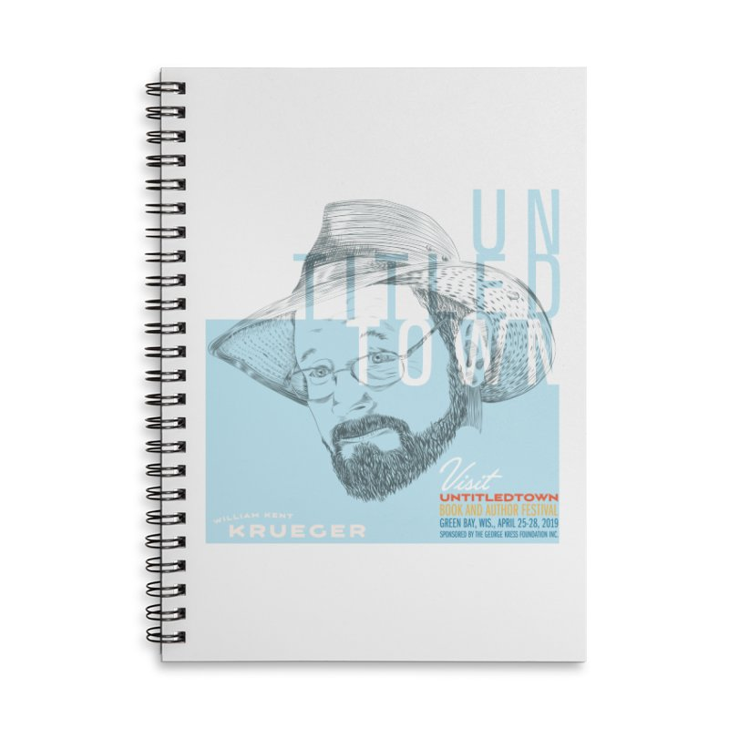 William Kent Krueger at UntitledTown Accessories Lined Spiral Notebook by UntitledTown Store