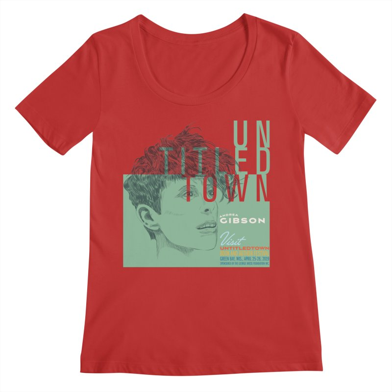 Andrea Gibson at UntitledTown Women's Regular Scoop Neck by UntitledTown Store