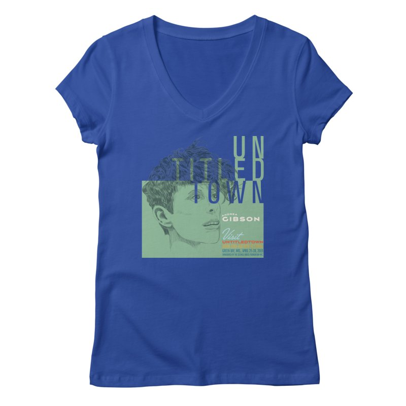 Andrea Gibson at UntitledTown Women's Regular V-Neck by UntitledTown Store