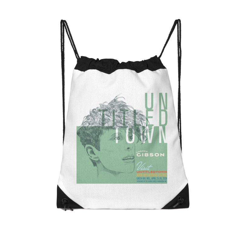 Andrea Gibson at UntitledTown Accessories Drawstring Bag Bag by UntitledTown Store