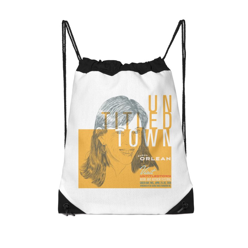 Susan Orlean at UntitledTown Accessories Drawstring Bag Bag by UntitledTown Store