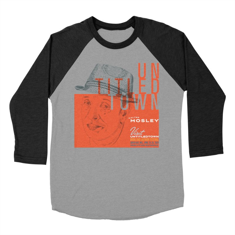 Walter Mosley at UntitledTown Men's Baseball Triblend Longsleeve T-Shirt by UntitledTown Store
