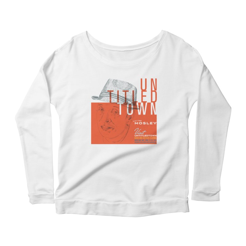 Walter Mosley at UntitledTown Women's Scoop Neck Longsleeve T-Shirt by UntitledTown Store