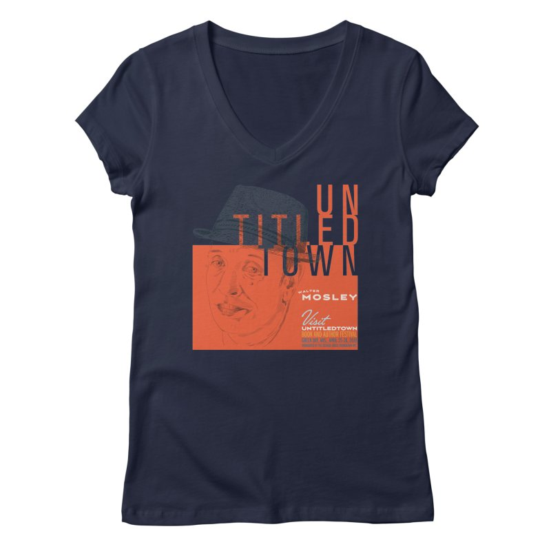 Walter Mosley at UntitledTown Women's Regular V-Neck by UntitledTown Store