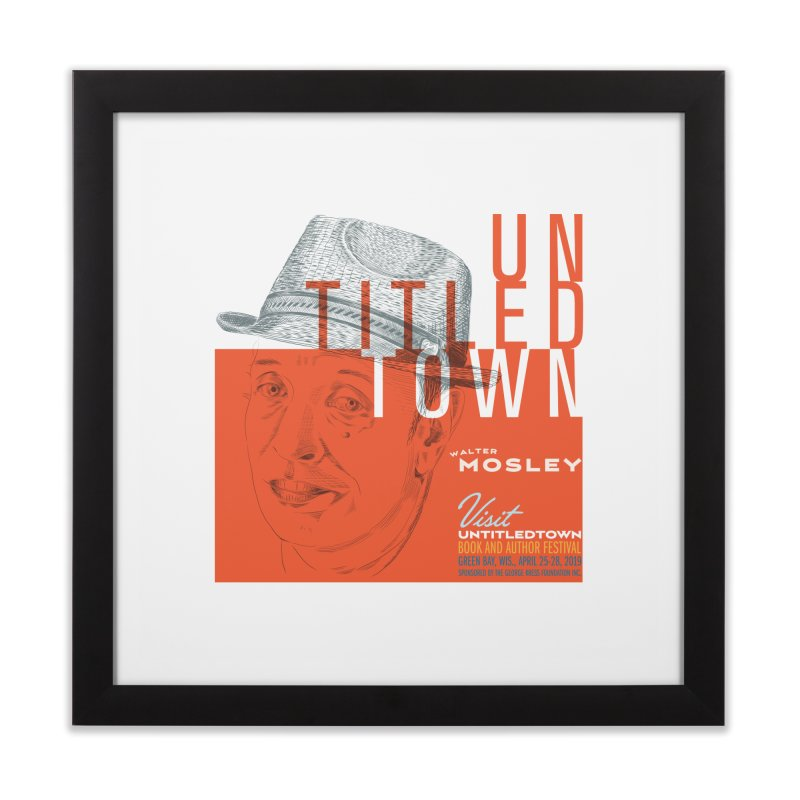 Walter Mosley at UntitledTown Home Framed Fine Art Print by UntitledTown Store
