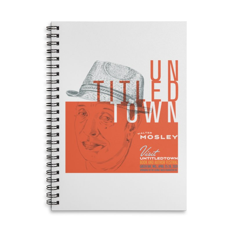Walter Mosley at UntitledTown Accessories Lined Spiral Notebook by UntitledTown Store
