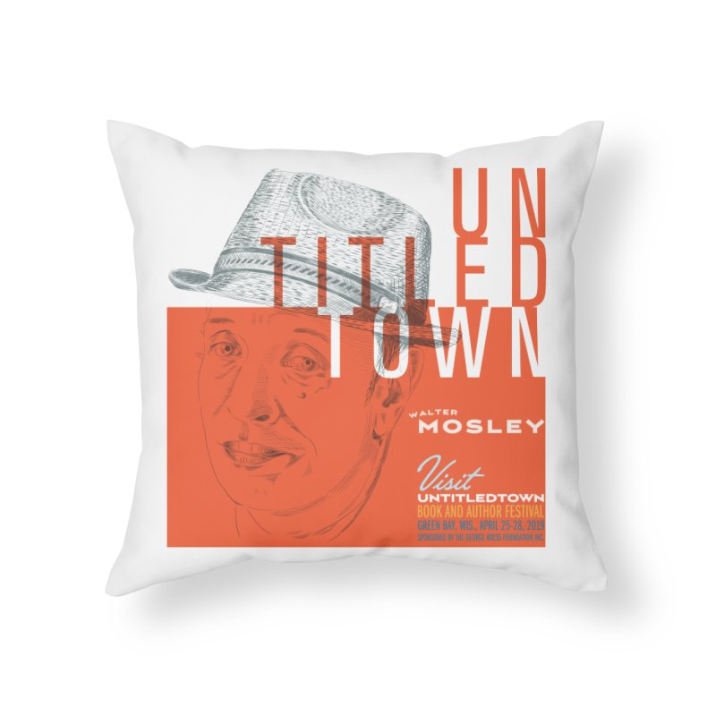 Walter Mosley at UntitledTown Home Throw Pillow by UntitledTown Store