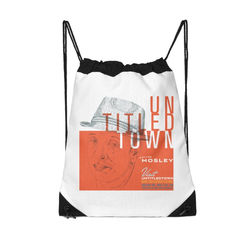 Walter Mosley at UntitledTown Accessories Drawstring Bag Bag by UntitledTown Store