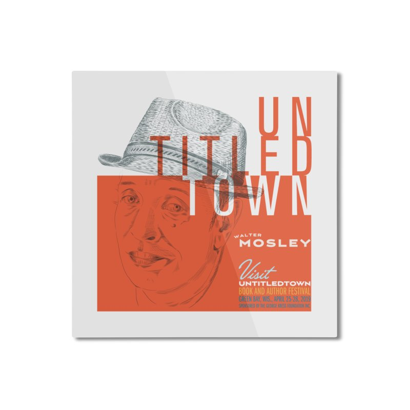 Walter Mosley at UntitledTown Home Mounted Aluminum Print by UntitledTown Store