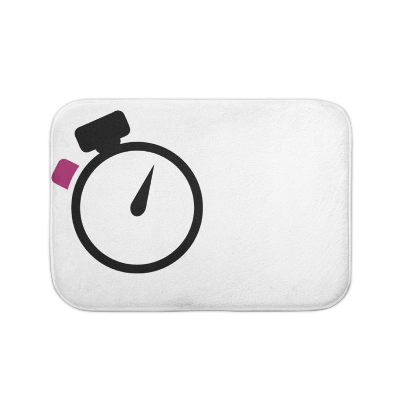 Unusual Efforts Stopwatch Logo Home Bath Mat by Unusual Efforts Merchandise and Prints
