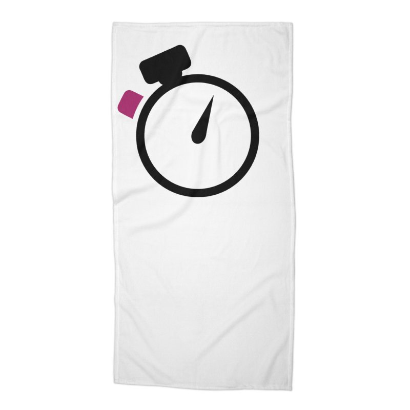 Unusual Efforts Stopwatch Logo Accessories Beach Towel by Unusual Efforts Merchandise and Prints