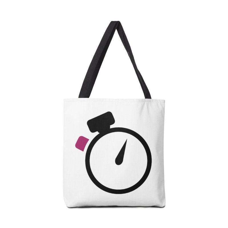 Unusual Efforts Stopwatch Logo Accessories Tote Bag Bag by Unusual Efforts Merchandise and Prints