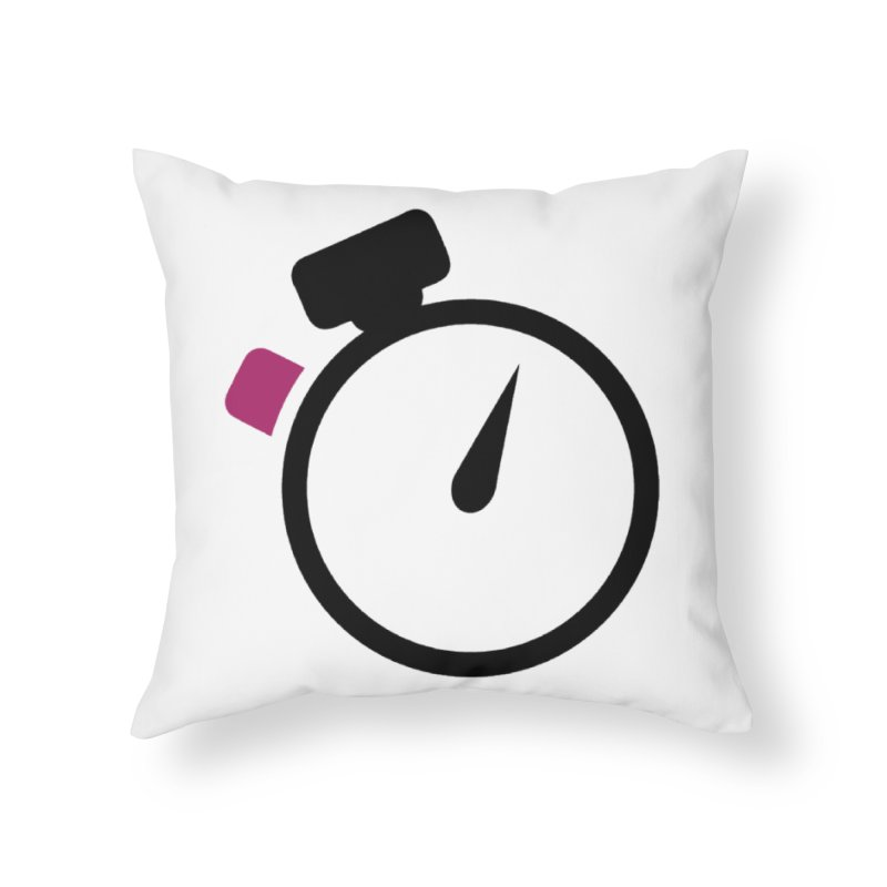 Unusual Efforts Stopwatch Logo Home Throw Pillow by Unusual Efforts Merchandise and Prints