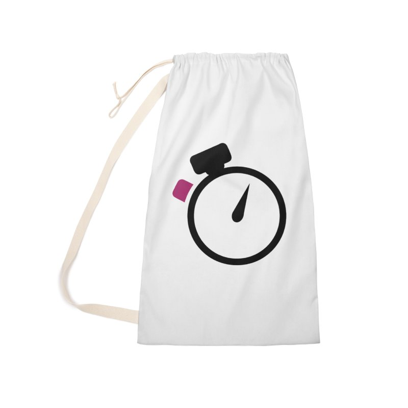 Unusual Efforts Stopwatch Logo Accessories Laundry Bag Bag by Unusual Efforts Merchandise and Prints
