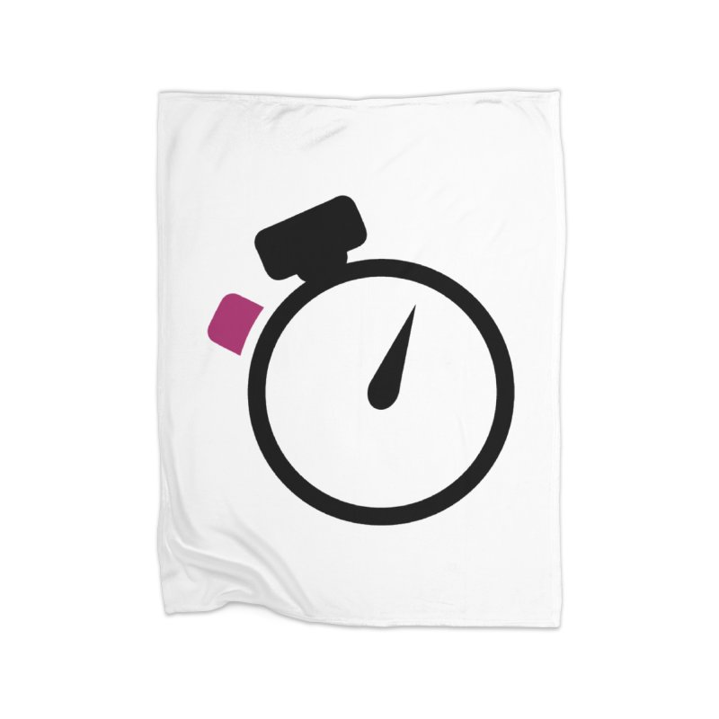 Unusual Efforts Stopwatch Logo Home Fleece Blanket Blanket by Unusual Efforts Merchandise and Prints