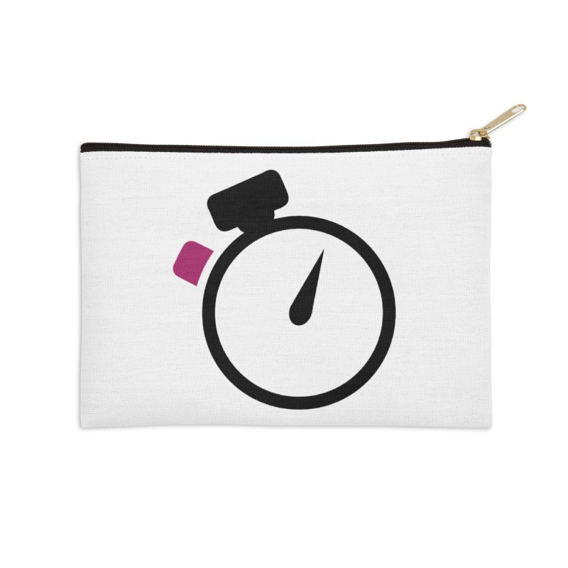 Unusual Efforts Stopwatch Logo Accessories Zip Pouch by Unusual Efforts Merchandise and Prints