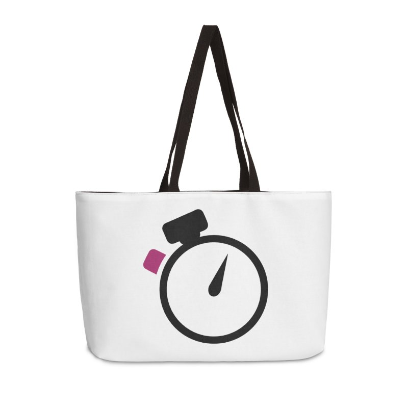 Unusual Efforts Stopwatch Logo Accessories Weekender Bag Bag by Unusual Efforts Merchandise and Prints