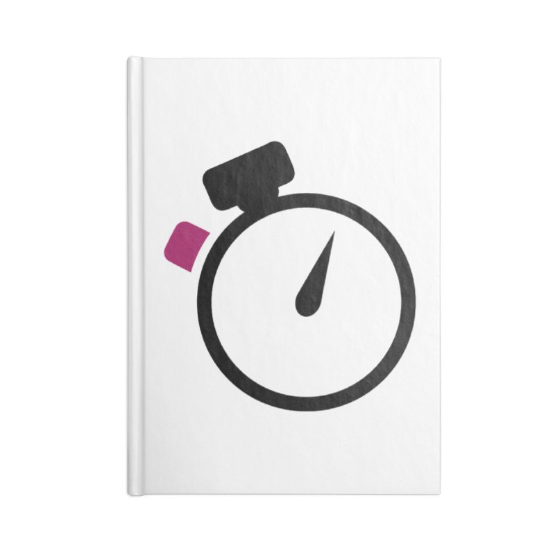 Unusual Efforts Stopwatch Logo Accessories Notebook by Unusual Efforts Merchandise and Prints