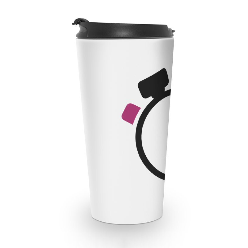 Unusual Efforts Stopwatch Logo Accessories Travel Mug by Unusual Efforts Merchandise and Prints