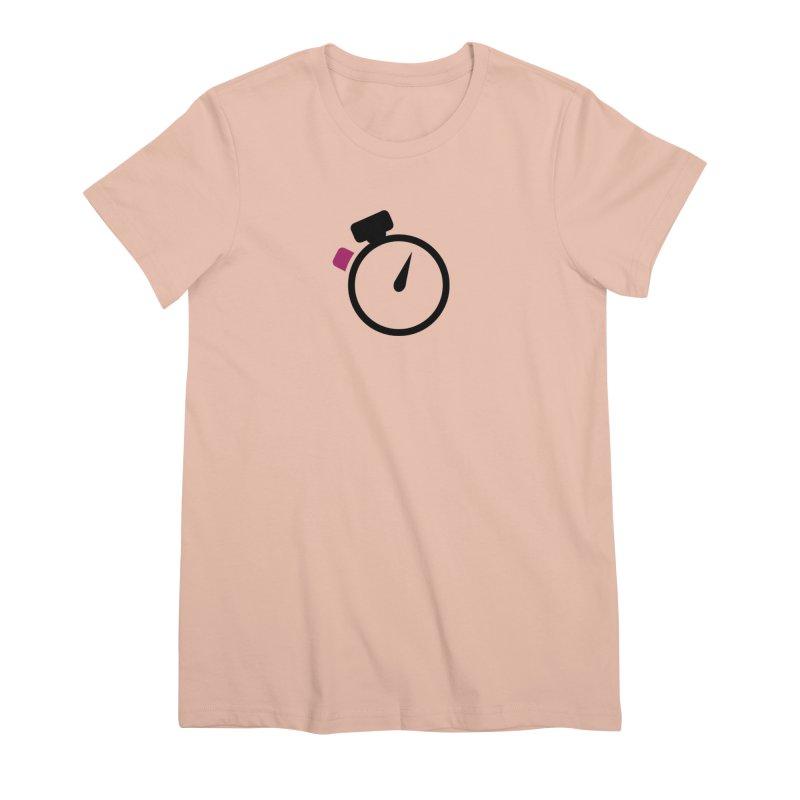 Unusual Efforts Stopwatch Logo Women's Premium T-Shirt by Unusual Efforts Merchandise and Prints