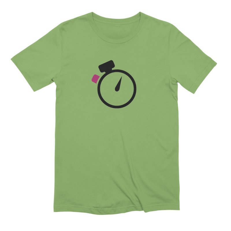 Unusual Efforts Stopwatch Logo Men's Extra Soft T-Shirt by Unusual Efforts Merchandise and Prints