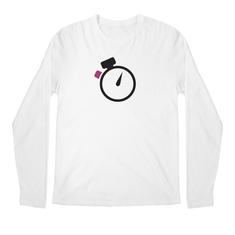 Unusual Efforts Stopwatch Logo Men's Regular Longsleeve T-Shirt by Unusual Efforts Merchandise and Prints
