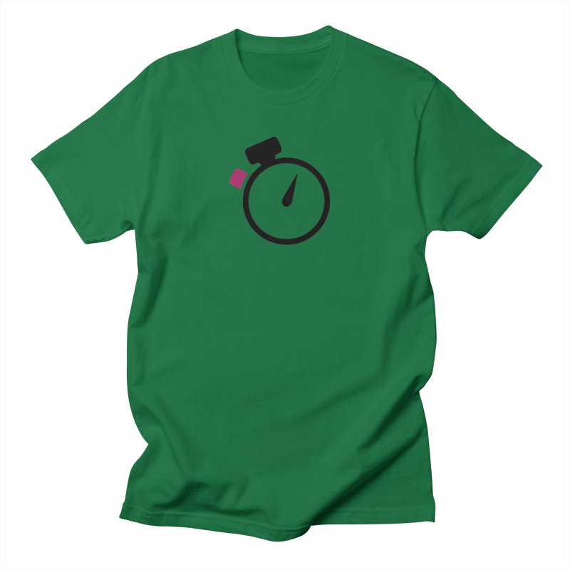 Unusual Efforts Stopwatch Logo Men's T-Shirt by Unusual Efforts Merchandise and Prints