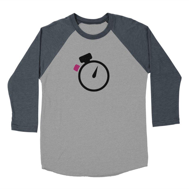 Unusual Efforts Stopwatch Logo Women's Baseball Triblend Longsleeve T-Shirt by Unusual Efforts Merchandise and Prints