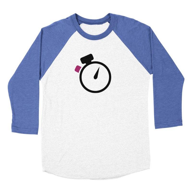 Unusual Efforts Stopwatch Logo Men's Baseball Triblend Longsleeve T-Shirt by Unusual Efforts Merchandise and Prints