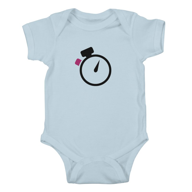 Unusual Efforts Stopwatch Logo Kids Baby Bodysuit by Unusual Efforts Merchandise and Prints