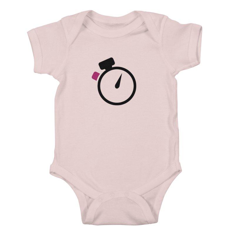 Unusual Efforts Stopwatch Logo Kids Baby Bodysuit by Unusual Efforts Merchandise and Prints