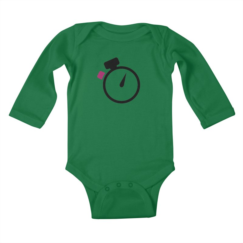 Unusual Efforts Stopwatch Logo Kids Baby Longsleeve Bodysuit by Unusual Efforts Merchandise and Prints