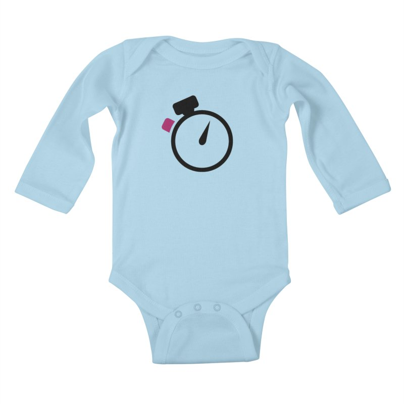 Unusual Efforts Stopwatch Logo Kids Baby Longsleeve Bodysuit by Unusual Efforts Merchandise and Prints