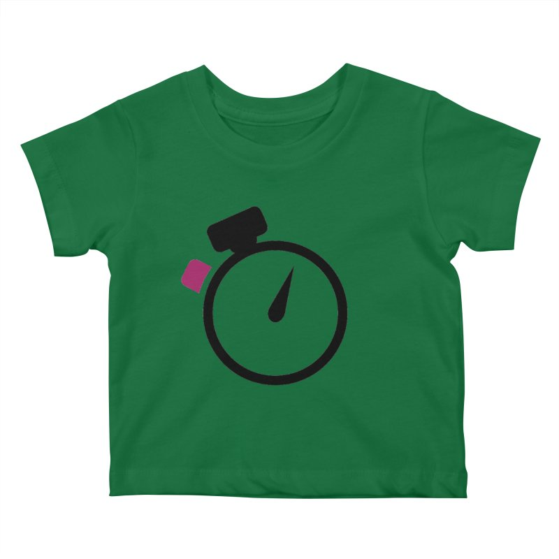 Unusual Efforts Stopwatch Logo Kids Baby T-Shirt by Unusual Efforts Merchandise and Prints