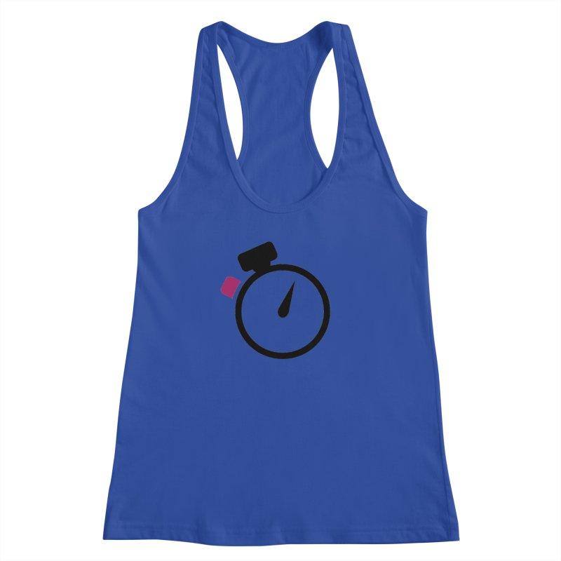 Unusual Efforts Stopwatch Logo Women's Racerback Tank by Unusual Efforts Merchandise and Prints