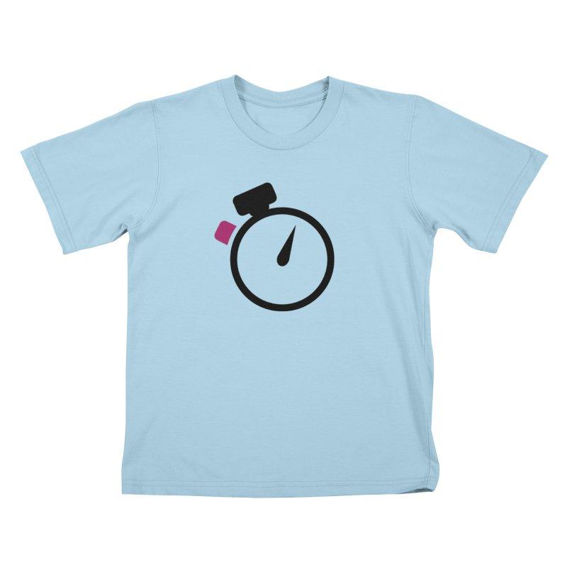 Unusual Efforts Stopwatch Logo Kids T-Shirt by Unusual Efforts Merchandise and Prints