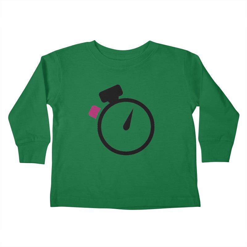 Unusual Efforts Stopwatch Logo Kids Toddler Longsleeve T-Shirt by Unusual Efforts Merchandise and Prints