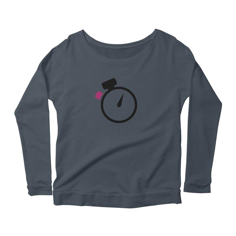 Unusual Efforts Stopwatch Logo Women's Scoop Neck Longsleeve T-Shirt by Unusual Efforts Merchandise and Prints