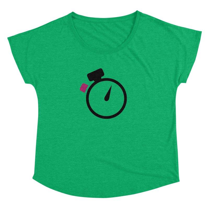Unusual Efforts Stopwatch Logo Women's Dolman Scoop Neck by Unusual Efforts Merchandise and Prints