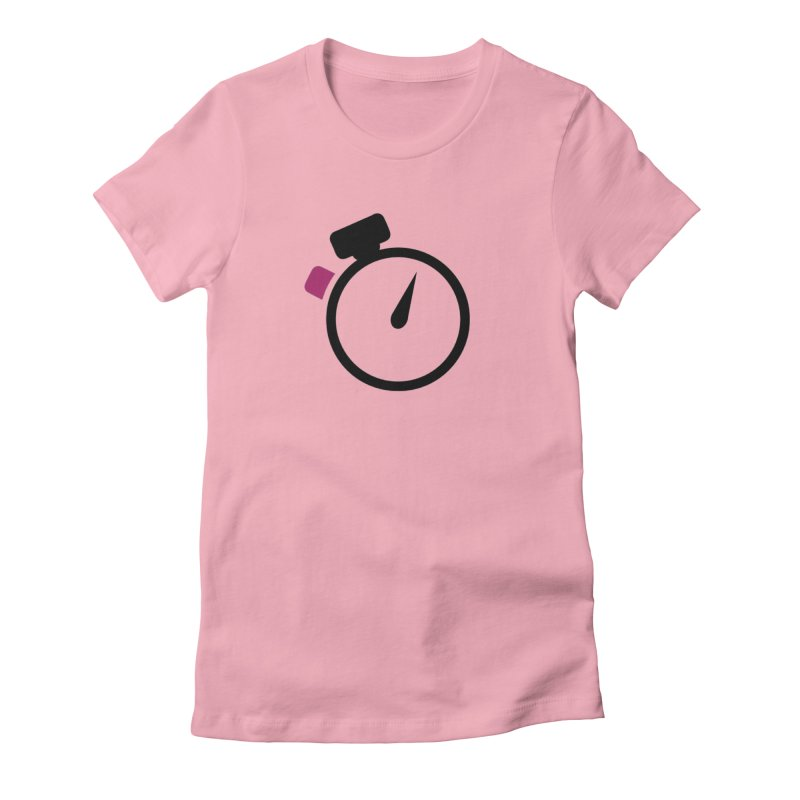 Unusual Efforts Stopwatch Logo Women's Fitted T-Shirt by Unusual Efforts Merchandise and Prints